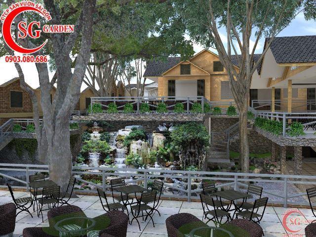 Thiết kế cafe sân vườn anh Hải Bình Dương 5