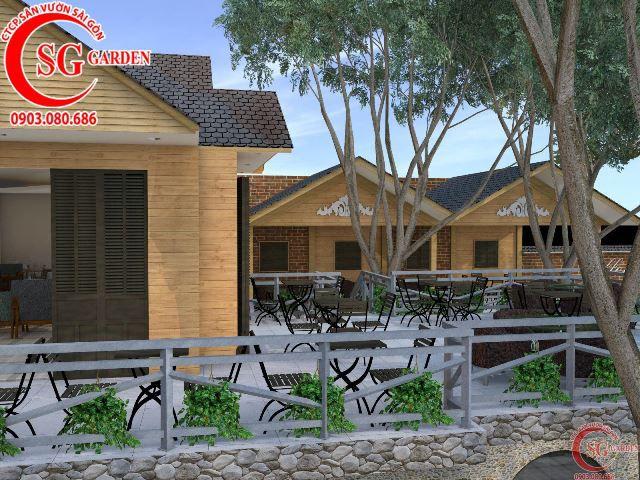 Thiết kế cafe sân vườn anh Hải Bình Dương 6