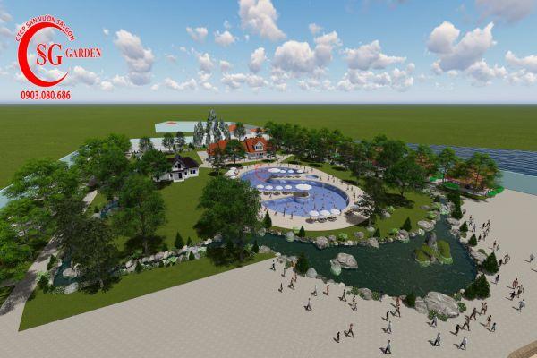 Thiết kế cảnh quan resort Khánh Vân Phú Quốc
