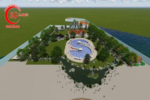 Thiết kế cảnh quan resort Khánh Vân Phú Quốc 4