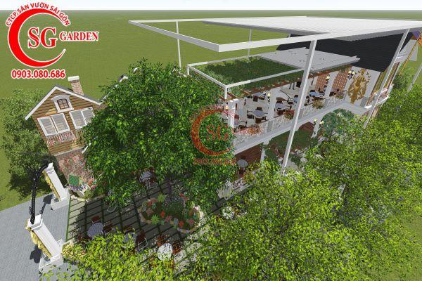 Thiết kế quán cafe Me tây Rạch Gía 1