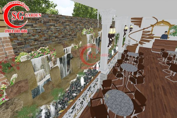Thiết kế quán cafe Me tây Rạch Gía 10