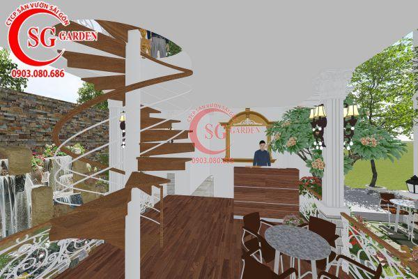 Thiết kế quán cafe Me tây Rạch Gía 12