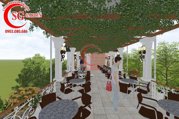 Thiết kế quán cafe Me tây Rạch Gía 14