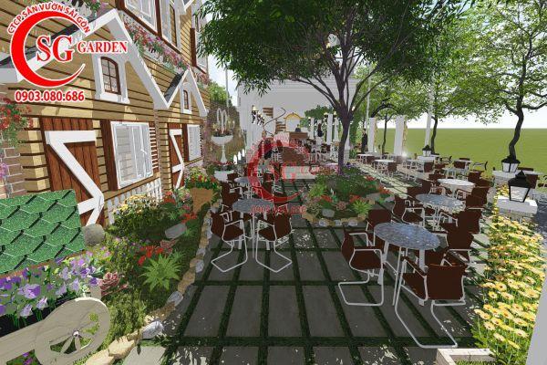 Thiết kế quán cafe Me tây Rạch Gía 5