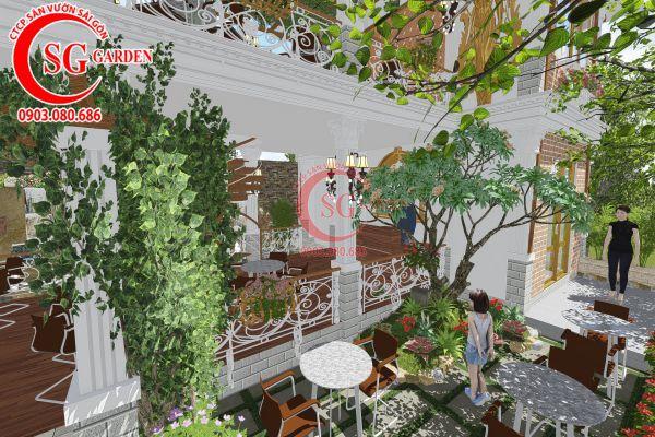 Thiết kế quán cafe Me tây Rạch Gía 6