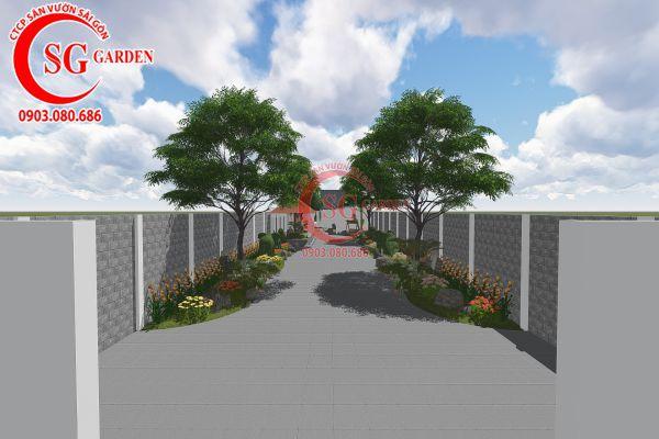Thiết kế sân vườn anh Tuấn Bình Chánh 1