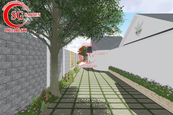 Thiết kế sân vườn anh Tuấn Bình Chánh 10