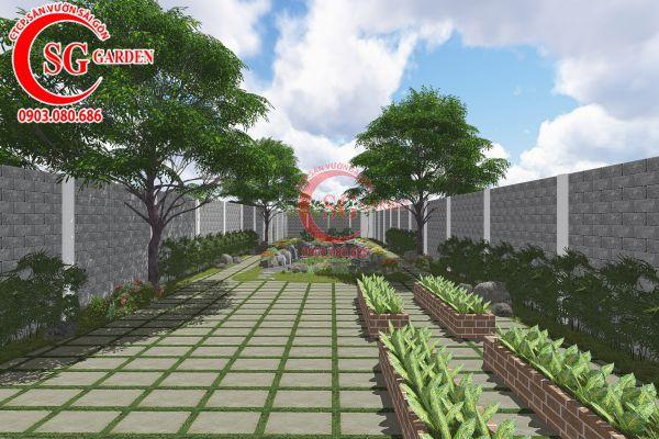 Thiết kế sân vườn anh Tuấn Bình Chánh 13