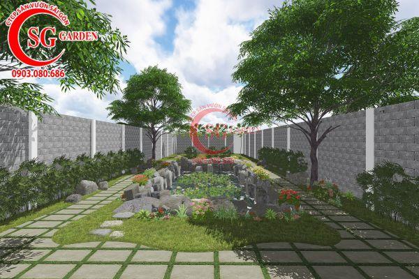 Thiết kế sân vườn anh Tuấn Bình Chánh 14