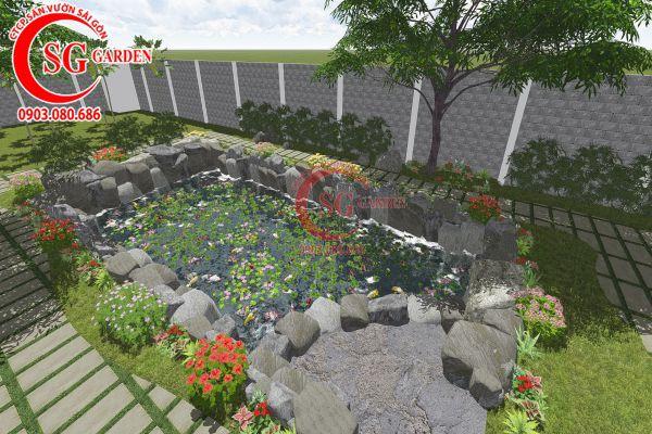 Thiết kế sân vườn anh Tuấn Bình Chánh 16