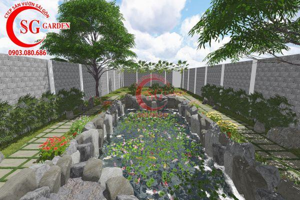 Thiết kế sân vườn anh Tuấn Bình Chánh 17