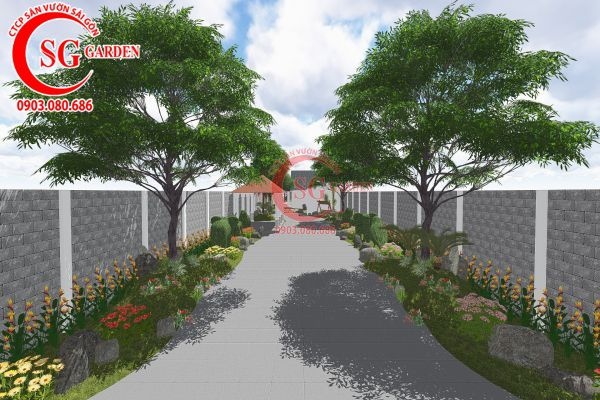 Thiết kế sân vườn anh Tuấn Bình Chánh 2