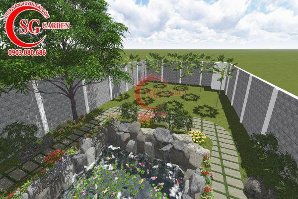 Thiết kế sân vườn anh Tuấn Bình Chánh 20
