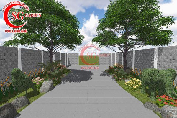 Thiết kế sân vườn anh Tuấn Bình Chánh 3