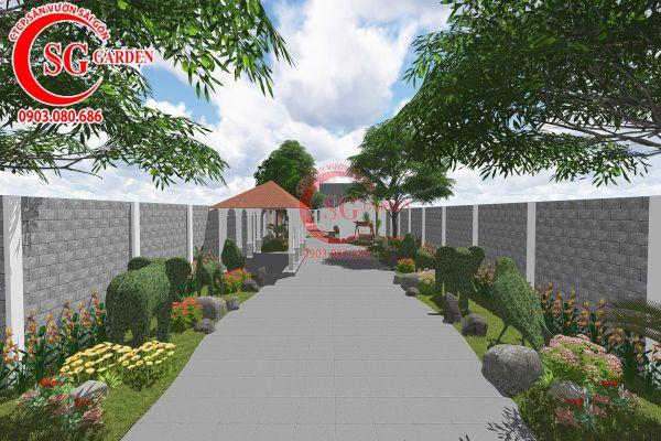Thiết kế sân vườn anh Tuấn Bình Chánh 4