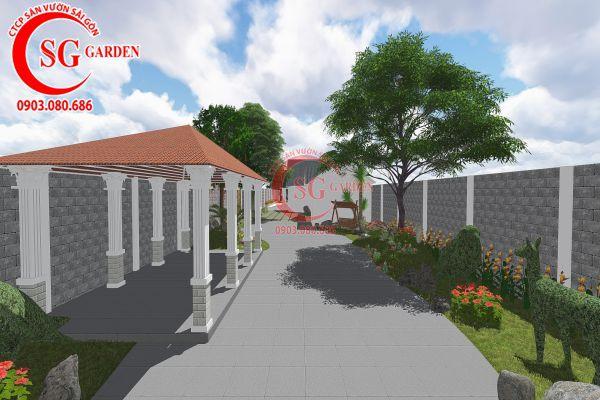 Thiết kế sân vườn anh Tuấn Bình Chánh 5
