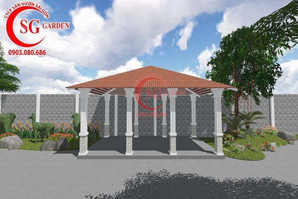Thiết kế sân vườn anh Tuấn Bình Chánh 6