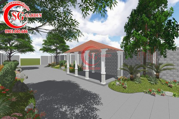 Thiết kế sân vườn anh Tuấn Bình Chánh 7