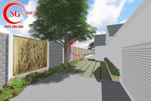 Thiết kế sân vườn anh Tuấn Bình Chánh 9