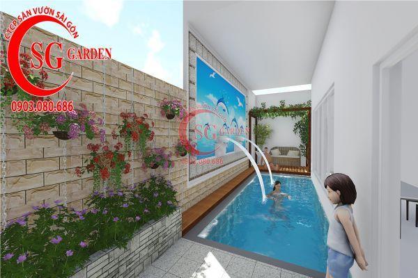 Thiết kế sân vườn biệt thự nhà anh Dân Tân Phú 11