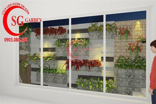 Thiết kế sân vườn biệt thự nhà anh Dân Tân Phú 16