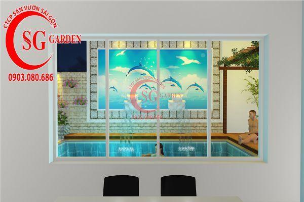 Thiết kế sân vườn biệt thự nhà anh Dân Tân Phú 20