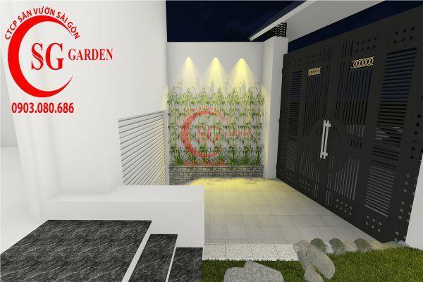 Thiết kế sân vườn biệt thự nhà anh Dân Tân Phú 7