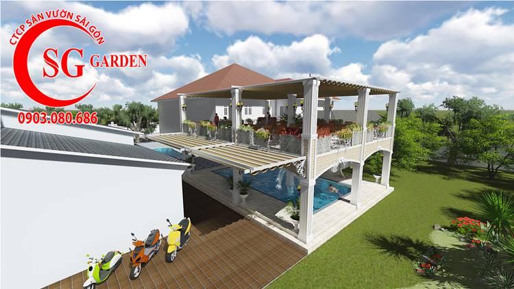 Thiết Kế Sân Vườn Biệt Thự Nhà Chị Lan Bình Dương 10