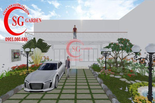 Thiết kế sân vườn chị Lan Bình Dương 6