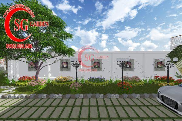 Thiết kế sân vườn chị Lan Bình Dương 8
