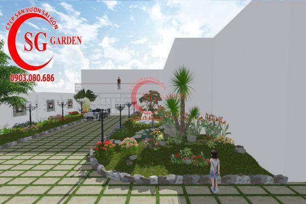 Thiết kế sân vườn chị Lan Bình Dương 9