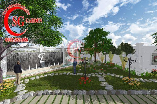 Thiết kế sân vườn chị Lan Bình Dương 10