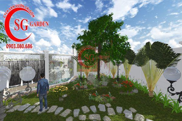 Thiết kế sân vườn chị Lan Bình Dương 11