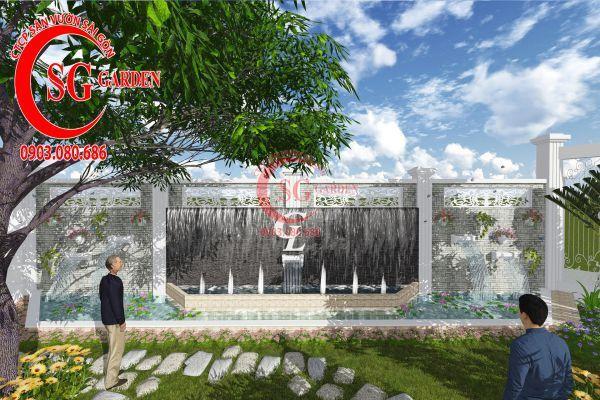 Thiết kế sân vườn chị Lan Bình Dương 12