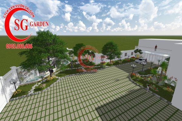 Thiết kế sân vườn chị Lan Bình Dương 14