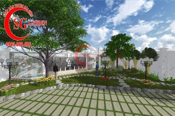 Thiết kế sân vườn chị Lan Bình Dương 16