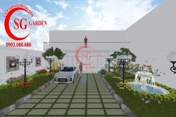 Thiết kế sân vườn chị Lan Bình Dương 5