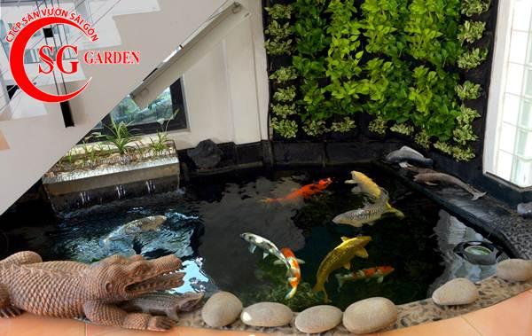 Thiết kế thi công hồ cá Koi tuyệt đẹp 10