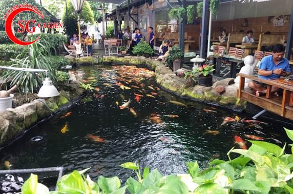 Thiết kế thi công hồ cá Koi tuyệt đẹp 35