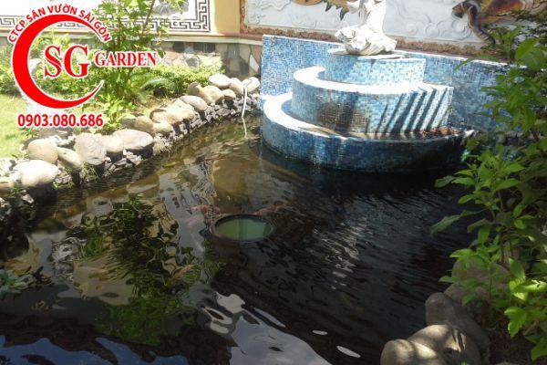 Thiết kế thi công hồ cá Koi tuyệt đẹp 16