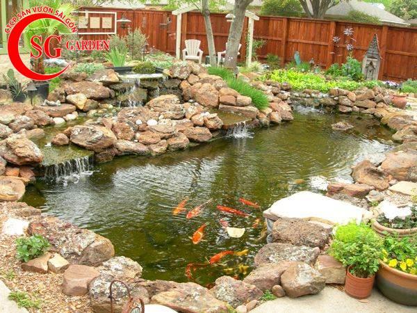 Thiết kế thi công hồ cá Koi tuyệt đẹp 44