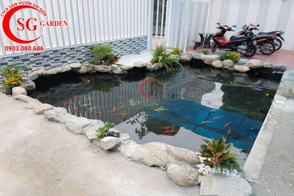 Thiết kế thi công hồ cá Koi tuyệt đẹp 27