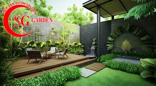 Thiết kế thi công vườn tường 24