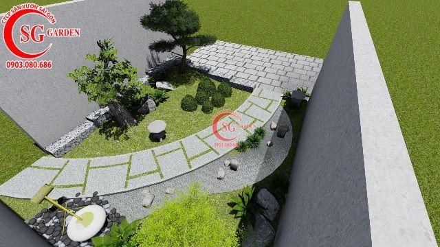 Thiết Kế Vườn Nhật Bản Nhà Cô Hồng Quận 3 3