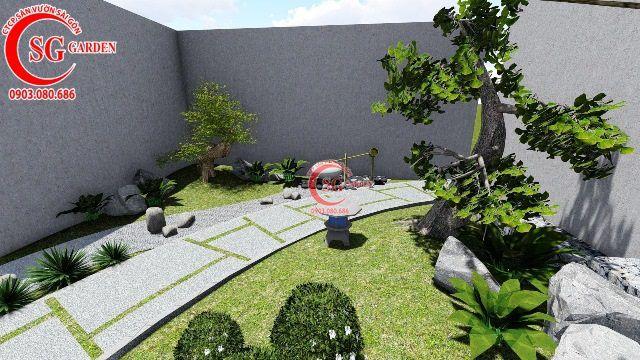 Thiết Kế Vườn Nhật Bản Nhà Cô Hồng Quận 3 4