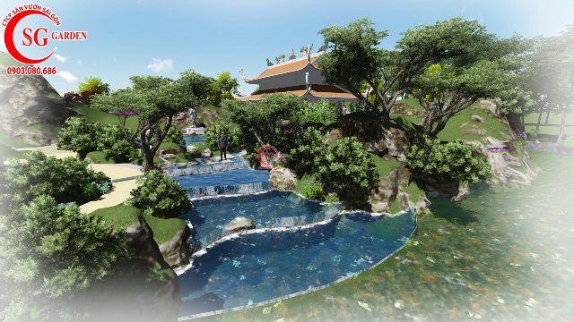 Sân Vườn Từ Đường Anh Cường Gò Dầu Tây Ninh 1