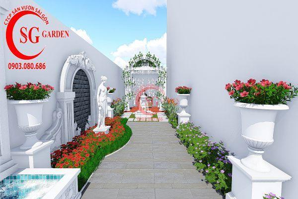 Thiết kế vườn Châu Âu anh Huy khu Phú Mỹ Hưng 4