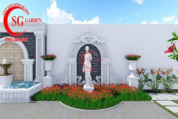 Thiết kế vườn Châu Âu anh Huy khu Phú Mỹ Hưng 5