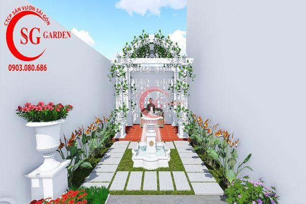 Thiết kế vườn Châu Âu anh Huy khu Phú Mỹ Hưng 6